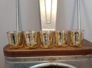 (5) Mercury Gold Votives